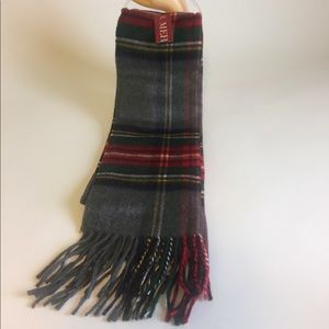 New Mer Scarf Red Black Green
